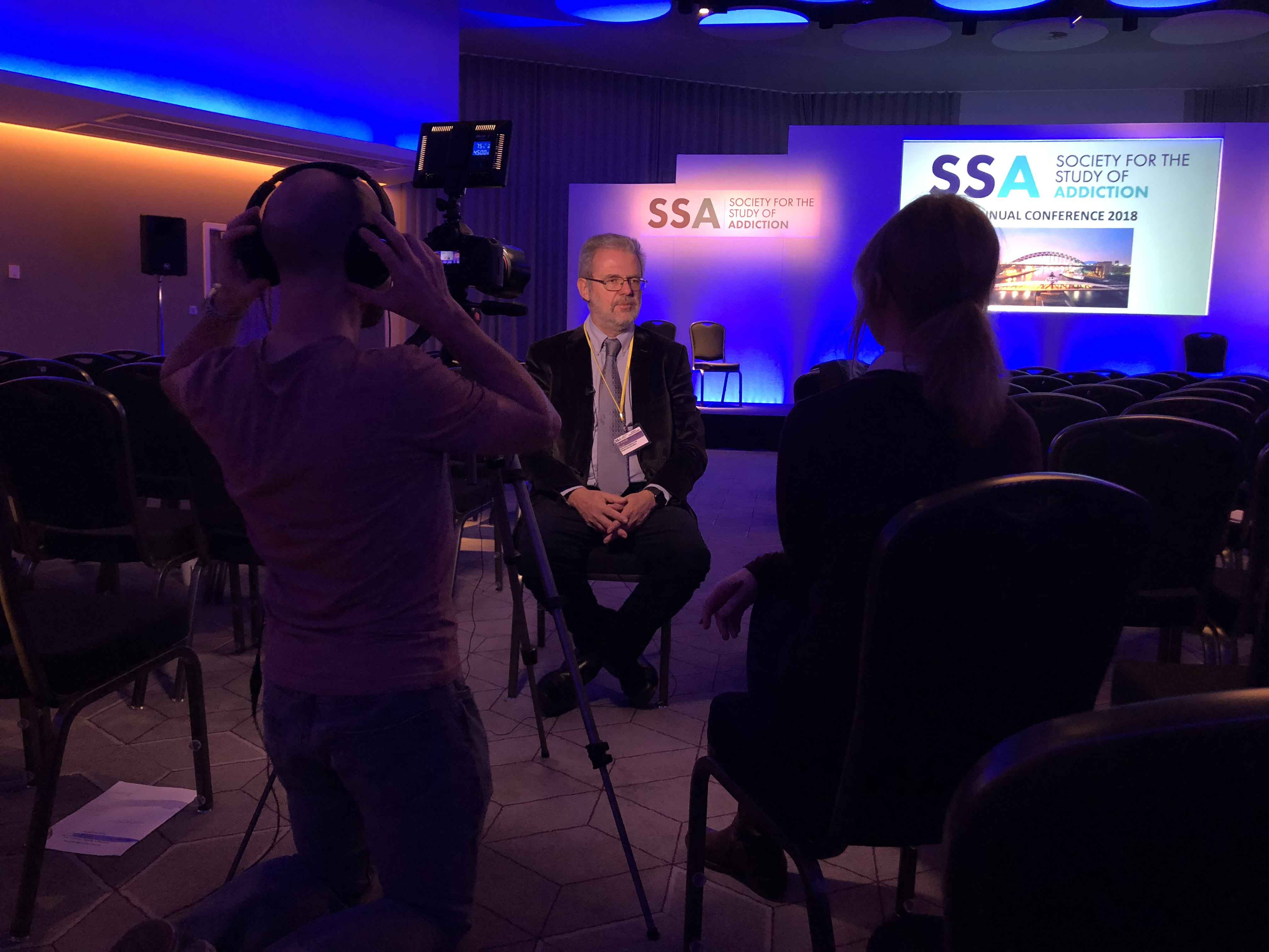 Filming in the auditorium at the SSA Annual Conference