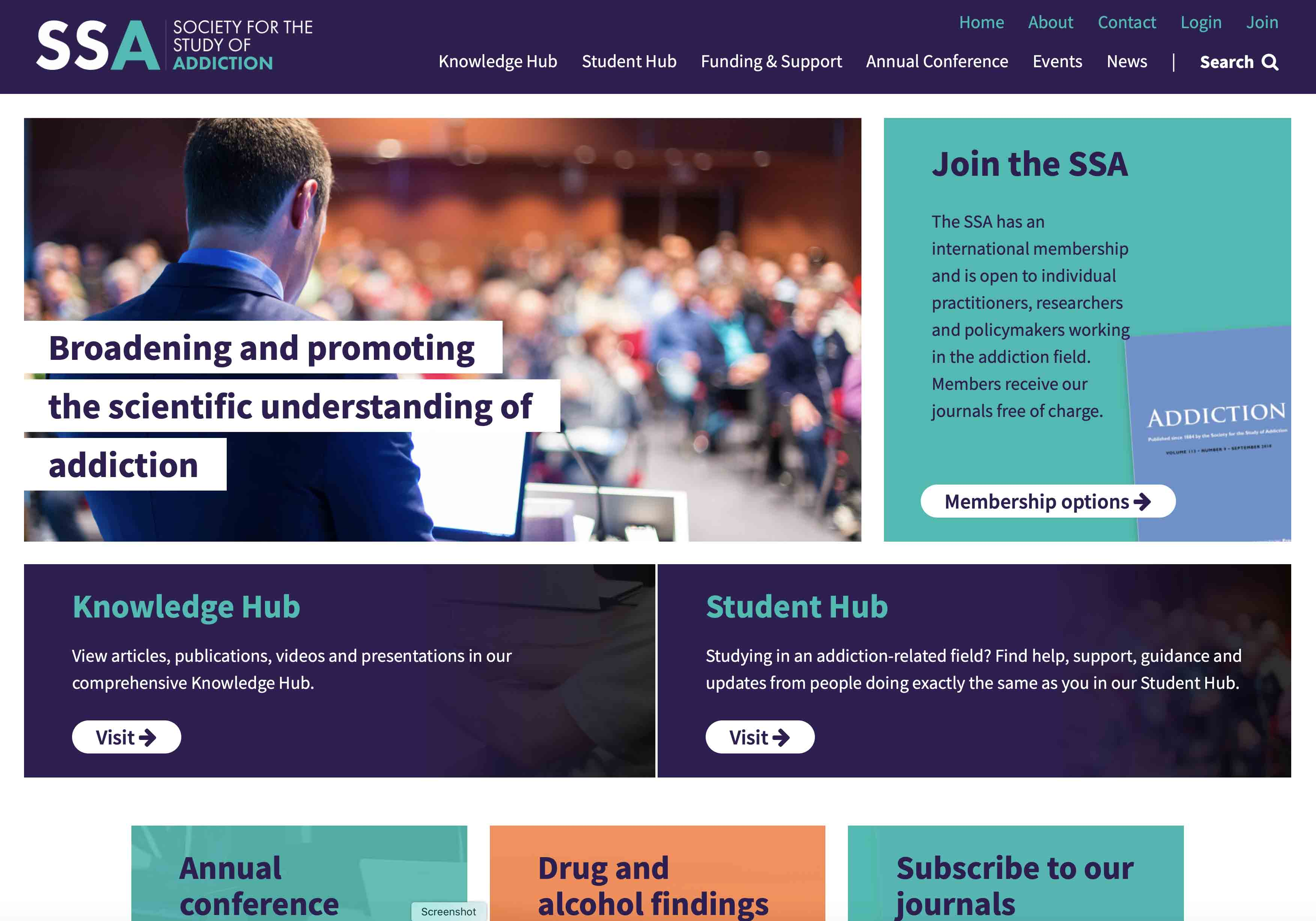 New SSA Website Screenshot