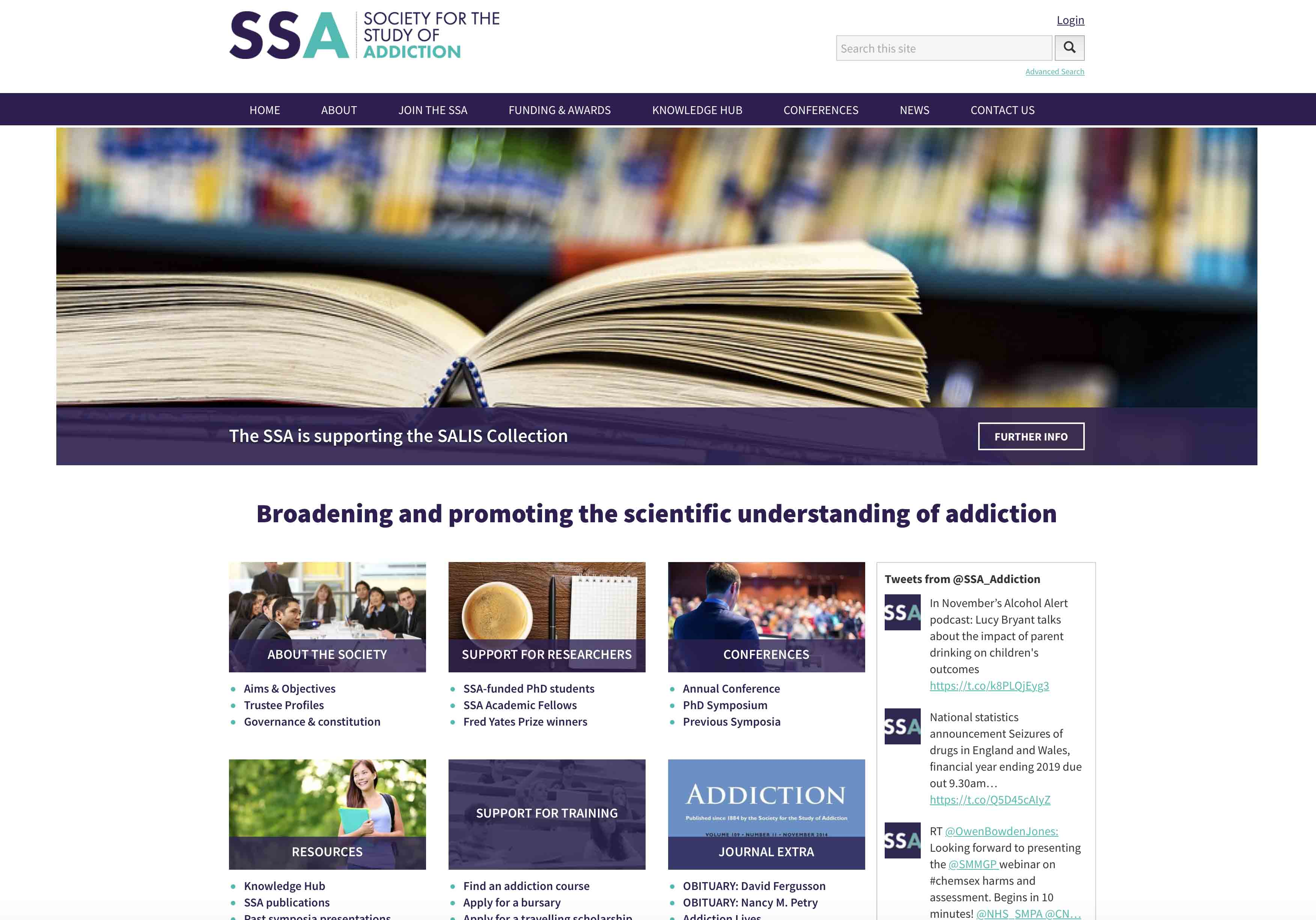 Old SSA Website Screenshot