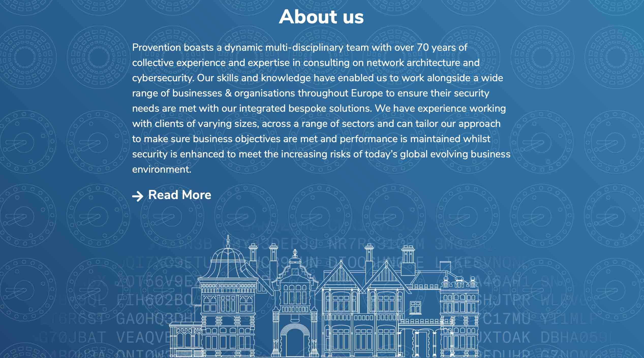 Screenshot of Provention Website