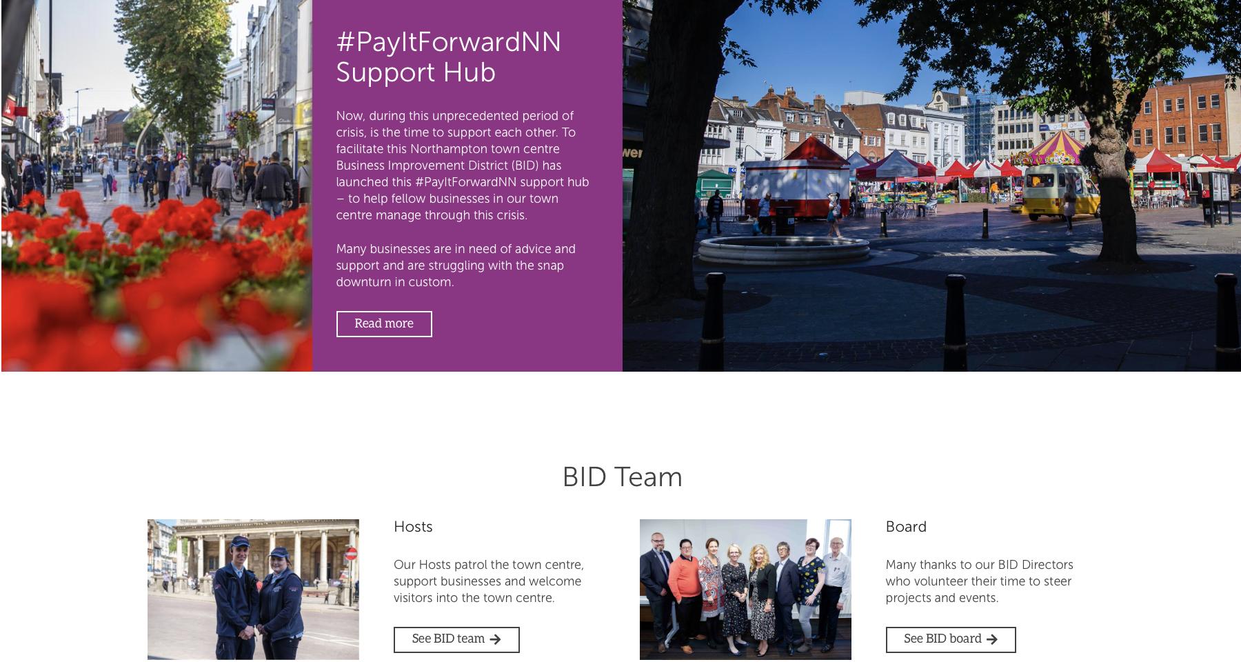 BID Website Screenshot